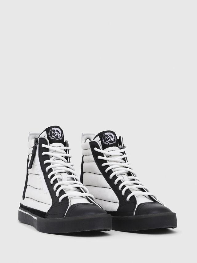 Diesel - D-VELOWS MID PATCH, White/Black - Sneakers - Image 2
