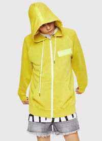 S-GIM-HOOD-ZIP, Yellow Fluo