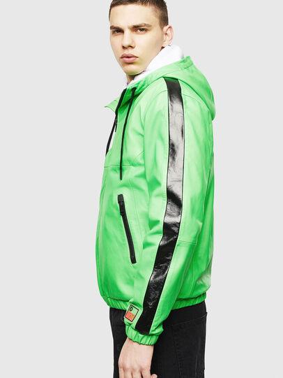 Diesel - L-CARRSY, Green Fluo - Leather jackets - Image 5