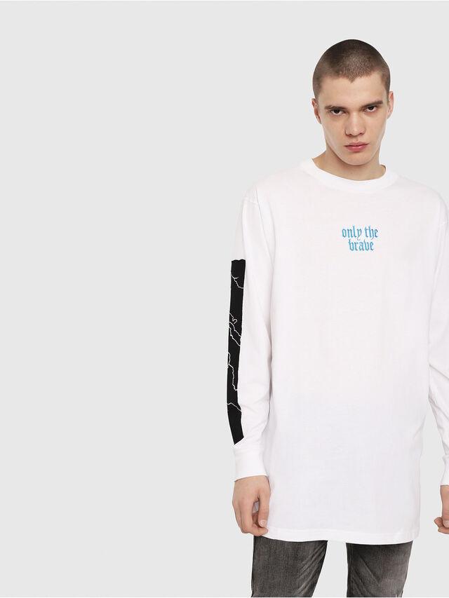 Diesel - T-LUCAS-LS-Y2, White - T-Shirts - Image 1