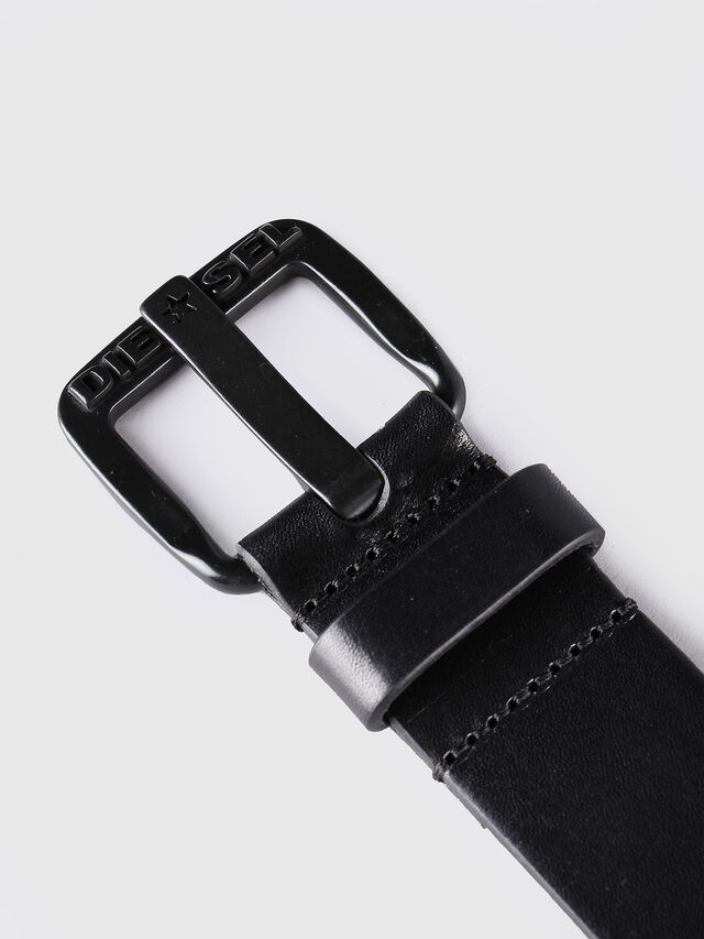 Diesel B-STAR, Black Leather - Belts - Image 2