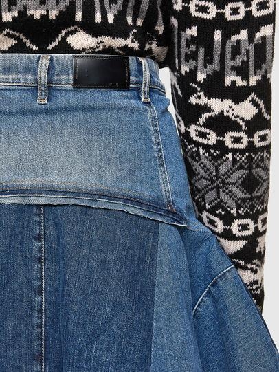 Diesel - OMYNRA, Light Blue - Skirts - Image 5