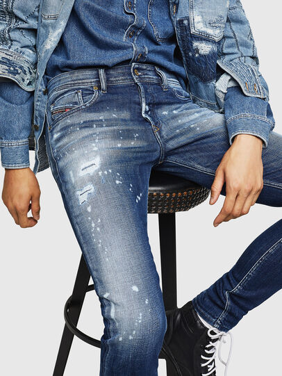 Diesel - Sleenker 0091Y, Medium blue - Jeans - Image 3