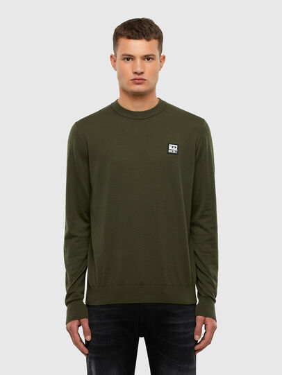 Diesel - K-FREEX-B, Military Green - Knitwear - Image 1