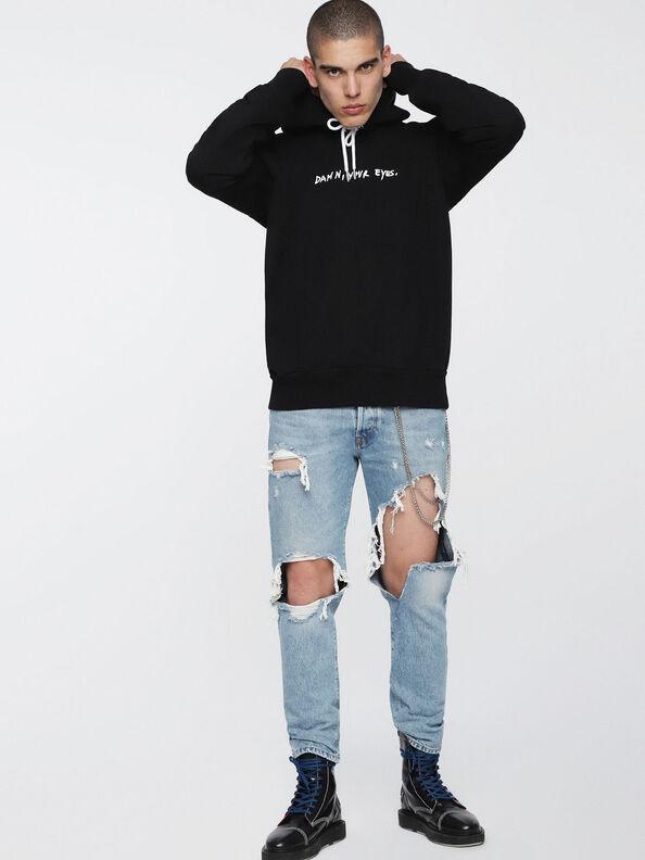 S-ALBY-HOOD-WC, Black - Sweaters