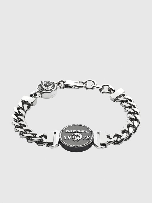 Diesel - BRACELET DX1090, Silver - Bracelets - Image 1