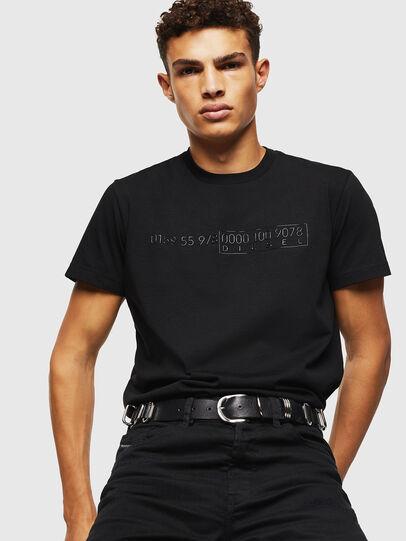Diesel - T-DIEGO-SLITS-J6, Black - T-Shirts - Image 4