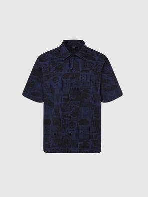 S-ROHAD-B, Black/Blue - Shirts