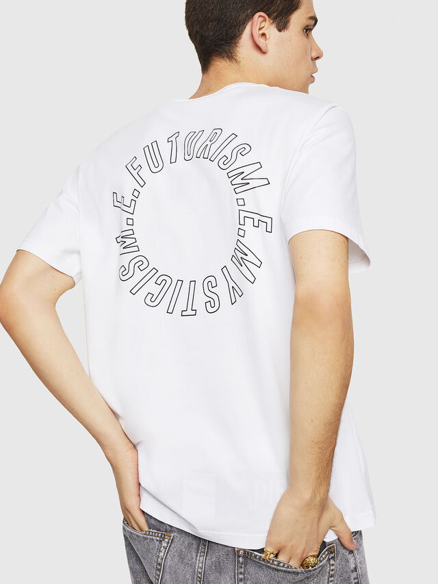 Diesel - T-JUST-Y19, White - T-Shirts - Image 2