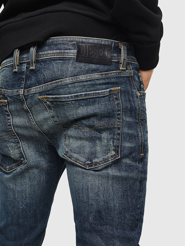 Diesel - Sleenker 069GC, Dark Blue - Jeans - Image 5