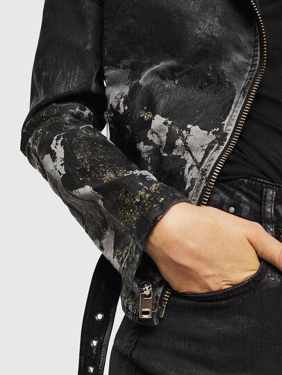 Diesel - KERBIZ-SP JOGGJEANS, Black/Dark grey - Denim Jackets - Image 4