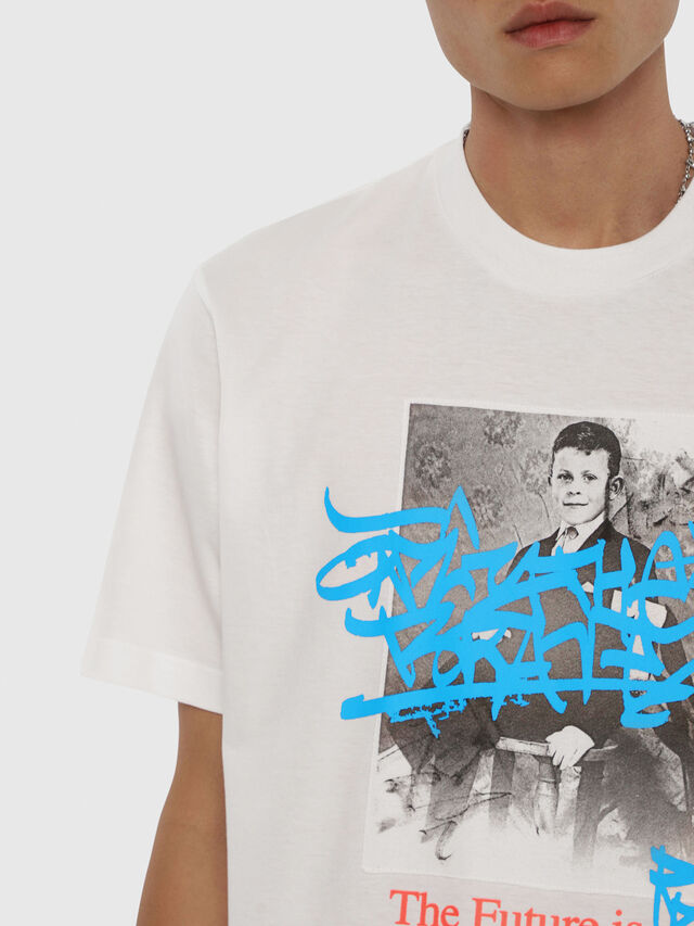Diesel - T-JUST-YC, White - T-Shirts - Image 3