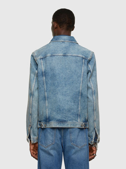 Diesel - NHILL-C1, Light Blue - Denim Jackets - Image 3
