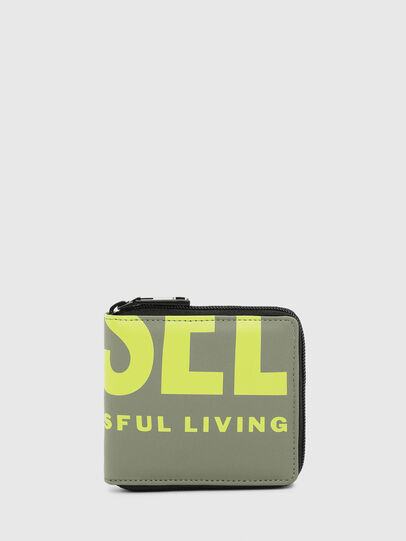 Diesel - ZIPPY HIRESH S II, Olive Green - Small Wallets - Image 1