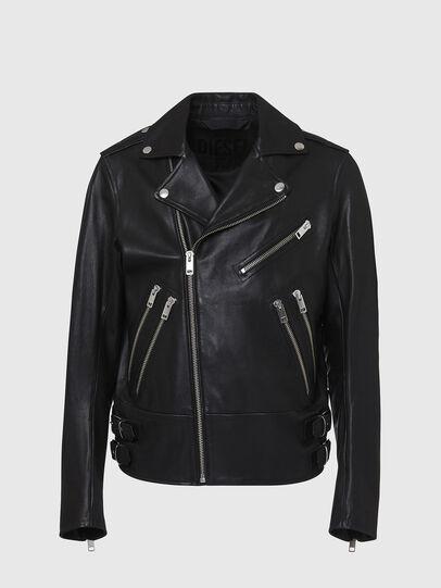 Diesel - L-GARRETT, Black - Leather jackets - Image 1