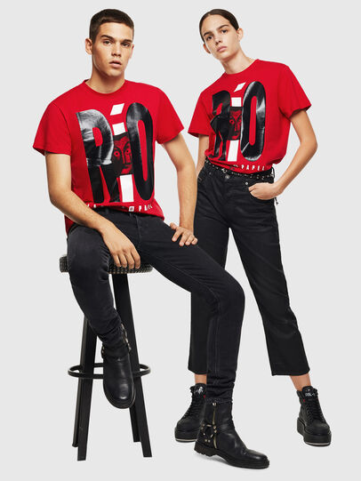Diesel - LCP-T-DIEGO-RIO, Red - T-Shirts - Image 7