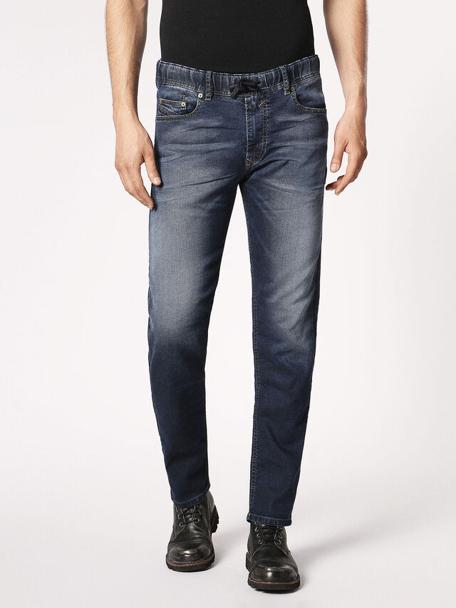 Diesel Waykee JoggJeans 0683Y, Dark Blue - Jeans - Image 2