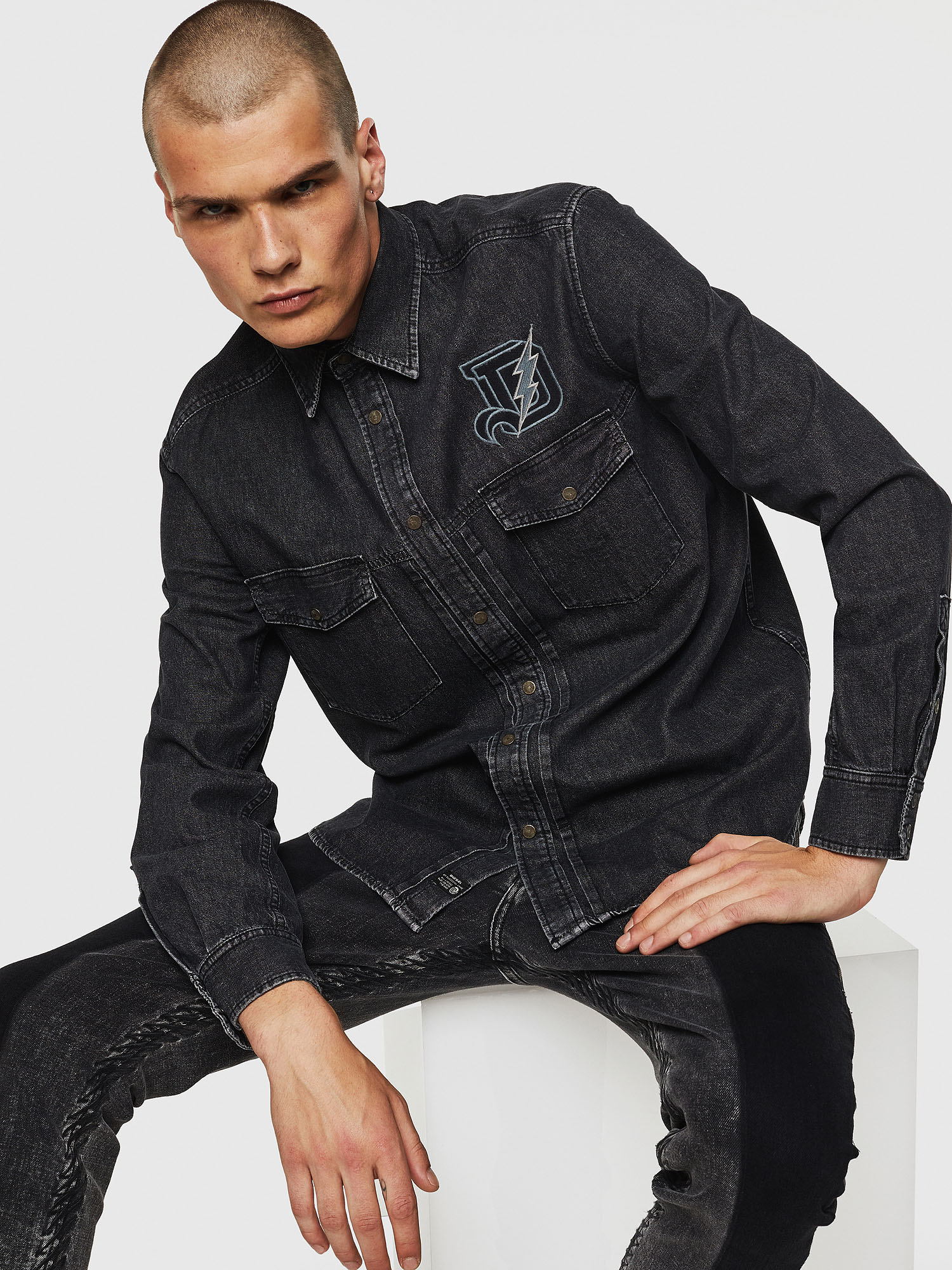 Diesel - D-BANDY-B,  - Denim Shirts - Image 3