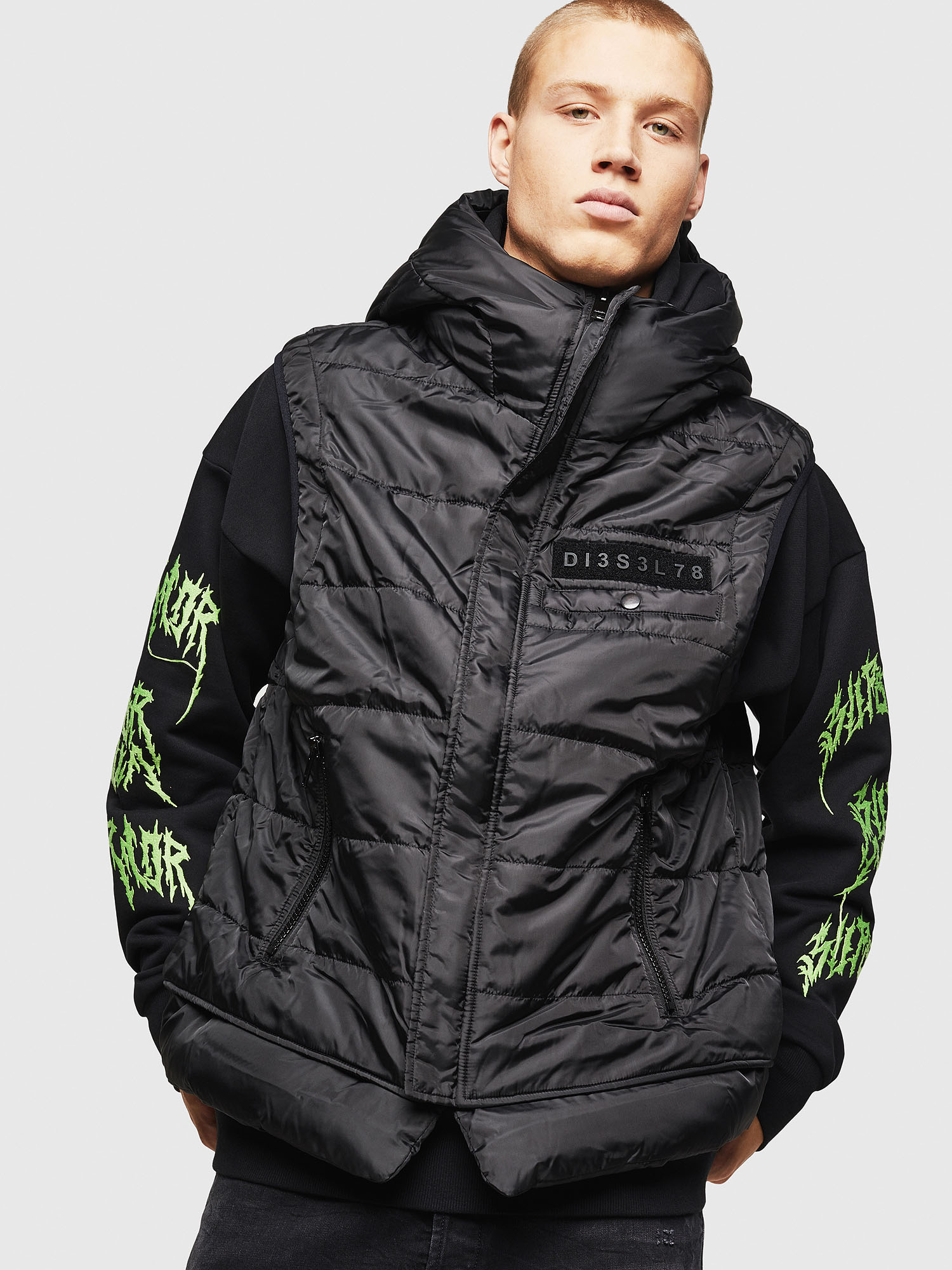 Diesel - W-SUN-REV-SLESS,  - Winter Jackets - Image 1