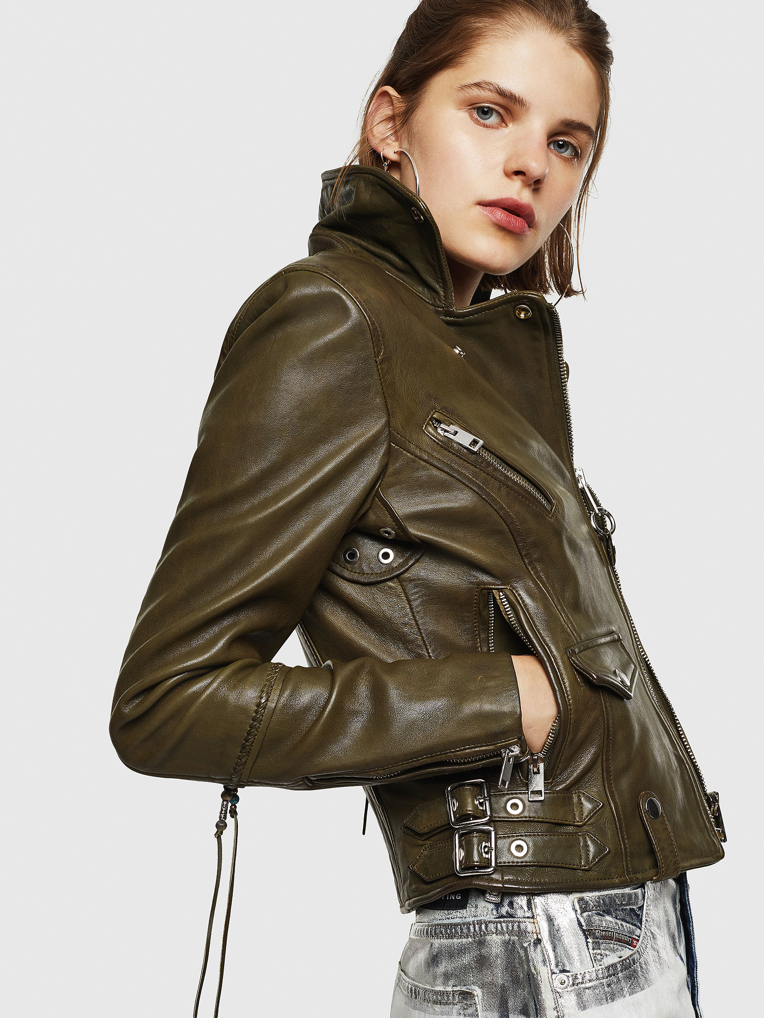 Diesel - L-SINYA-A,  - Leather jackets - Image 3