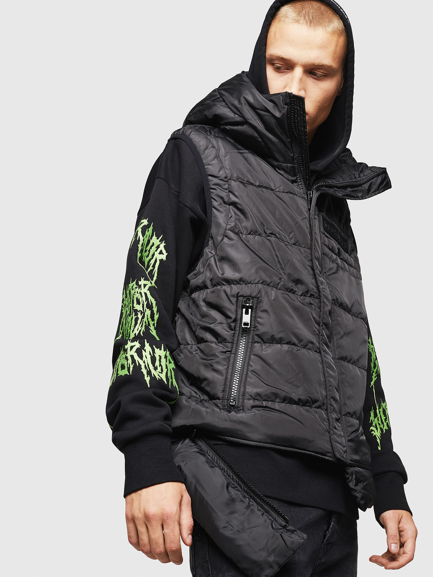Diesel - W-SUN-REV-SLESS,  - Winter Jackets - Image 4