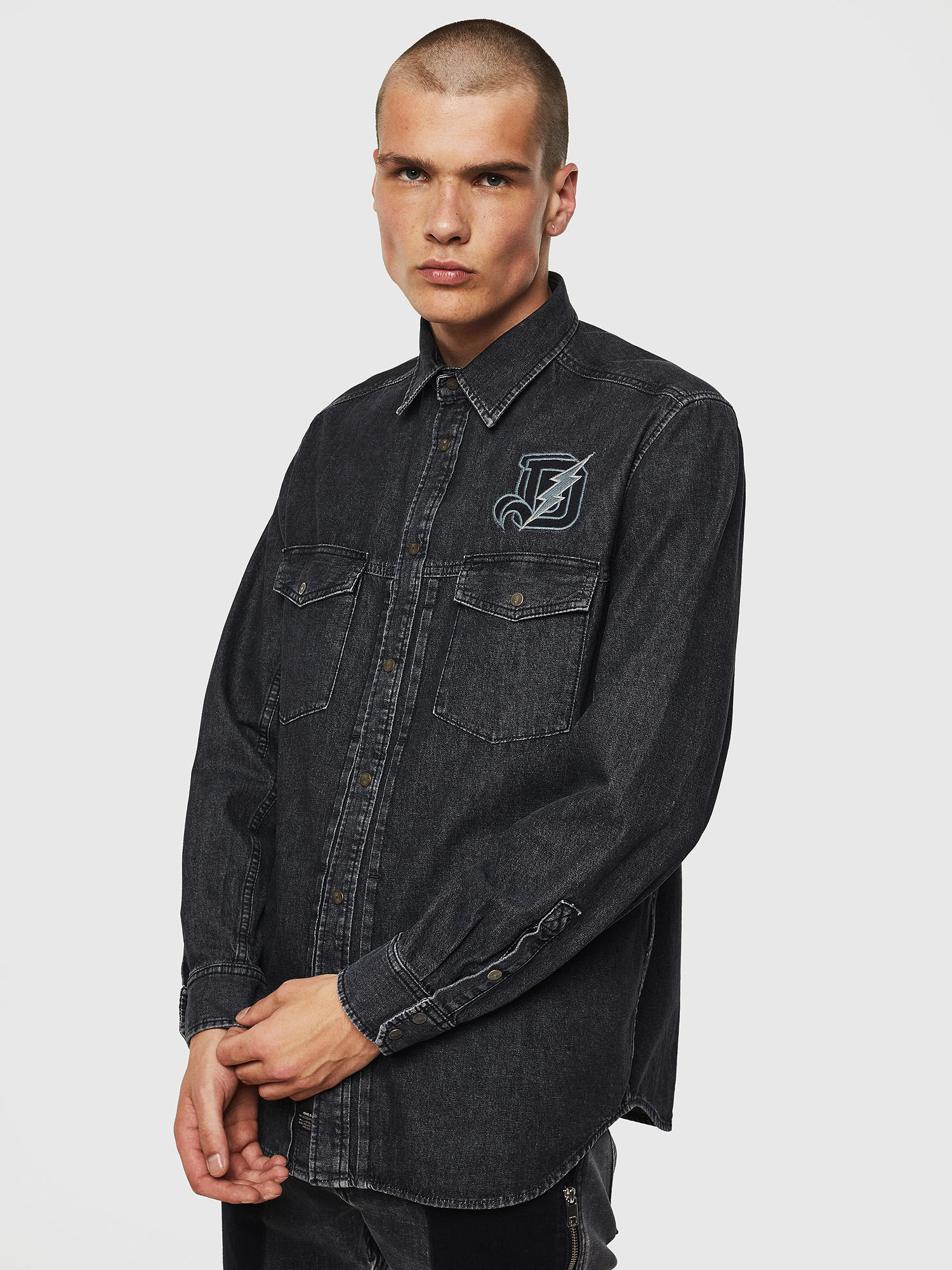 Diesel - D-BANDY-B,  - Denim Shirts - Image 1